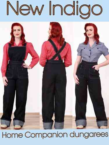 Indigo Home Companion Dungarees by Freddies of Pinewood