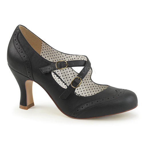 Criss Cross Mary Jane Pump Black