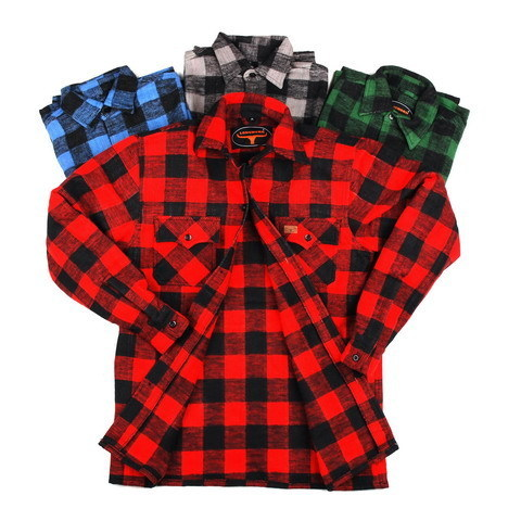Flannel shirt Black/Red
