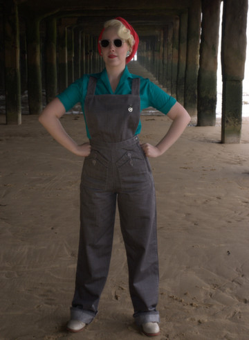 Grey Home Companion Dungarees by Freddies of Pinewood