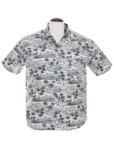 Caribbean Shakedown shirt men Charcoal