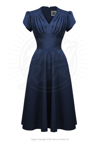 Retro Swing Dress Navy