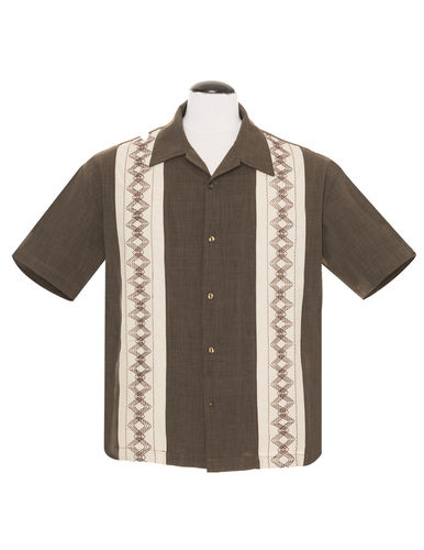Guayabera Estable shirt men coffee/stone