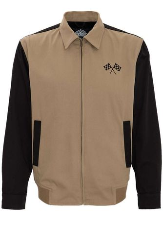Gabardine Jacket Speedway Dark Cream/black