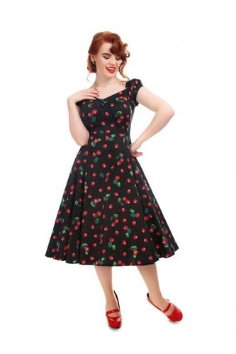 Dolores 50s Cherry Print Doll Dress