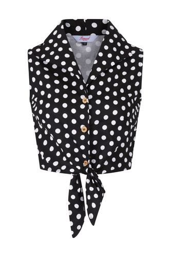 Polka Blouse Black