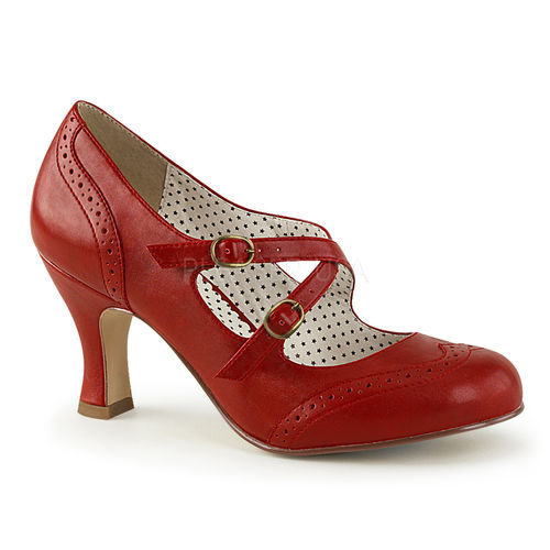 Criss Cross Mary Jane Pump Red