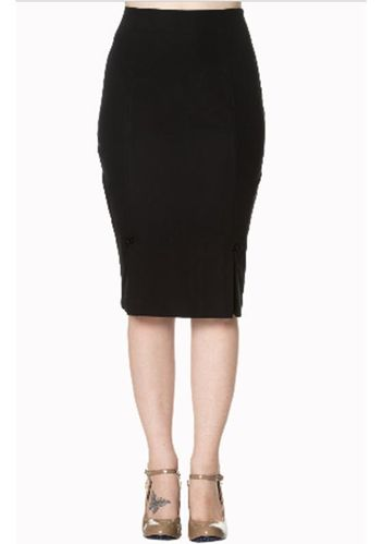 Guideing Light Pencil Skirt Black