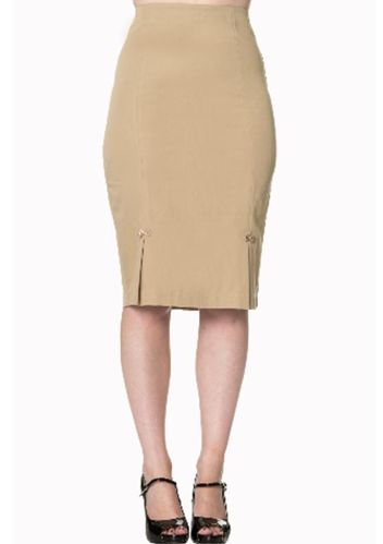 Guideing Light Pencil Skirt Sand
