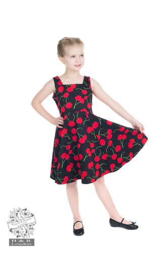 Black  Bombshell Cherry Swing dress kids