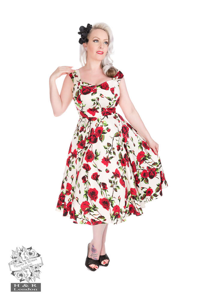 4df95b9aa6824 R&B Vintage Clothing - 50s Ditsy Rose Floral summer Swing Dress kids