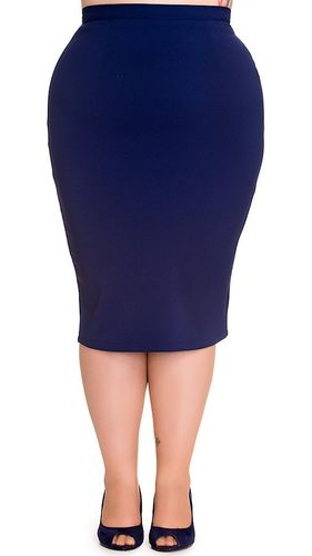 Joni Navy Pencil Skirt