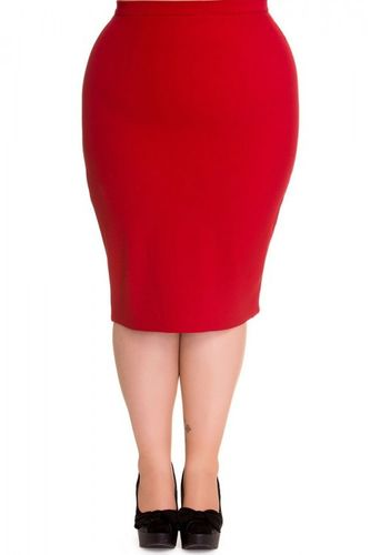 Joni red Pencil Skirt