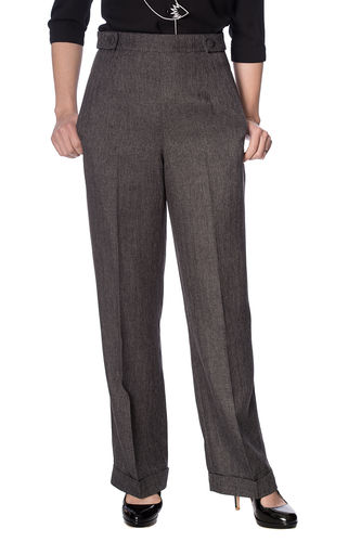 Button Trouser Grey