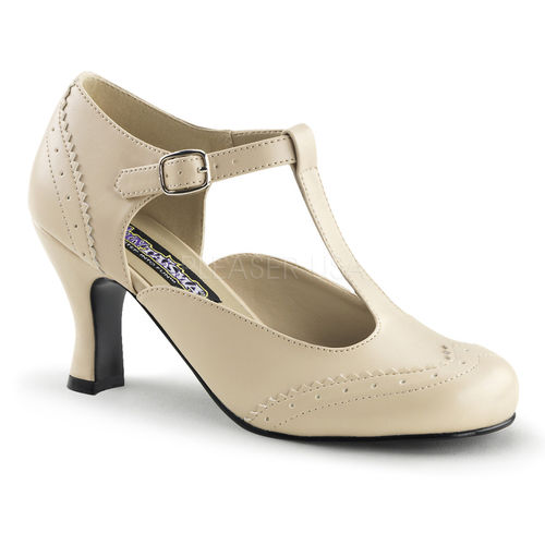 T-Strap Mary Jane Pump Cream