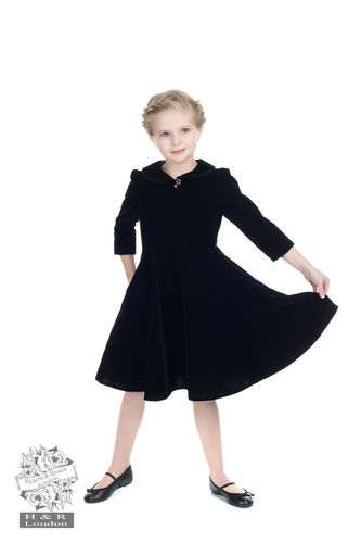 Glamorous Velvet Tea Dress Kids Black