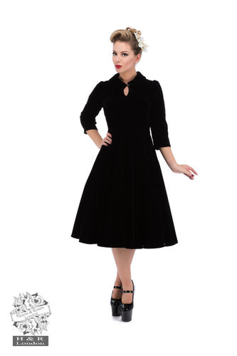 Glamorous Velvet Tea Vintage  Dress Black
