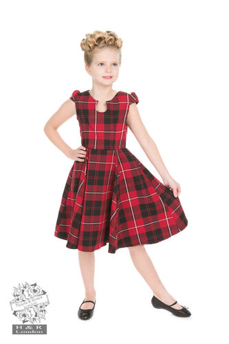 Red Tartan Tea Dress kids
