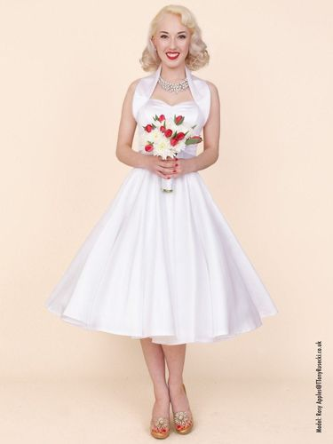 Halterneck Duchess Dress White