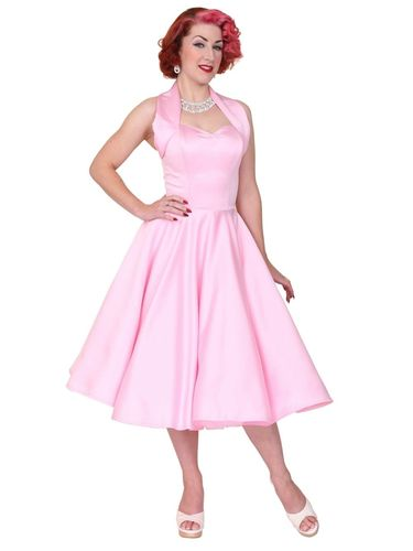 Halterneck Duchess Dress Pink