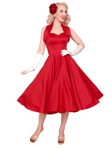 Halterneck Duchess Dress Red