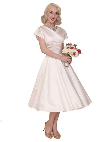 Grace Duchess Dress Ivory