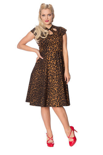 Animal Instincts Fit& Flare Dress