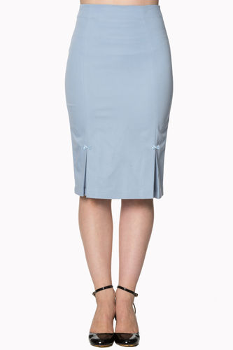 Guideing Light Pencil Skirt Baby Blue