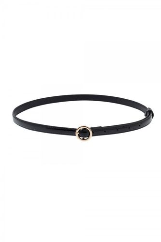 Slim belt w/ round buckle black