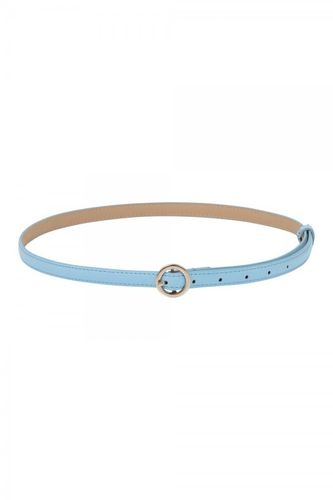 Slim belt w/ round buckle blue