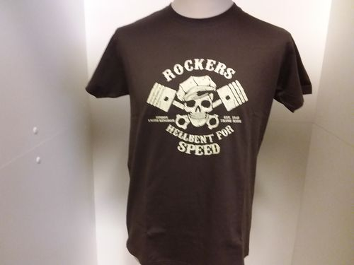 T-shirt brown Rockers/pistons