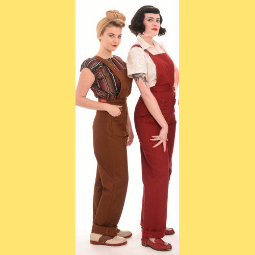 Light Brown Home Companion Dungarees by Freddies of Pinewood