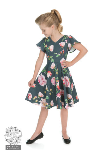 KIDS Amour Swing Dress Grey