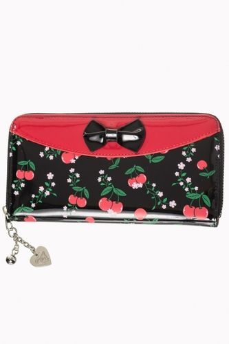 New Romantics Wallet black w/cherries