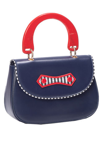 Boat against the current bag red/navy