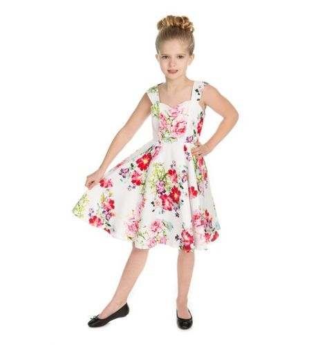 White Rose Paradise Swing dress kids