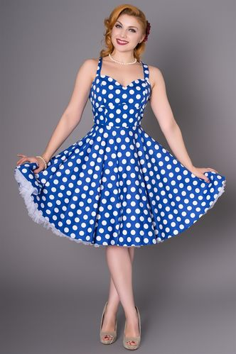 Eloise Dress blue/Polka