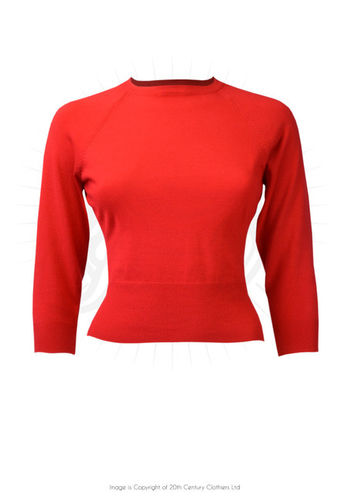 Sweater Girl Top Red