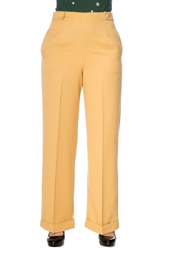 Party On Trousers Mustard