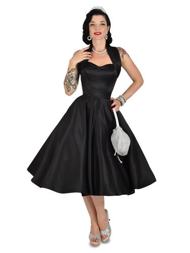 Halterneck Duchess Dress Black