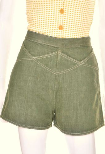 Green XX shorts by Freddies of Pinewood