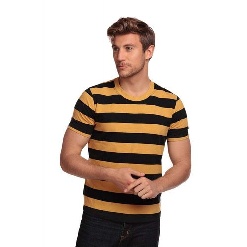 Jim Striped T-shirt Black/yellow