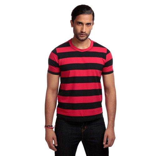 Jim Striped T-shirt Black/Red