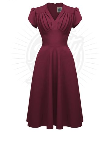 Retro Swing Dress Wine
