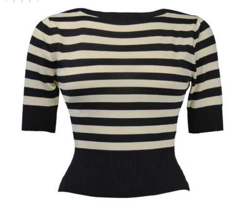 Bateau Sweater Black stripe
